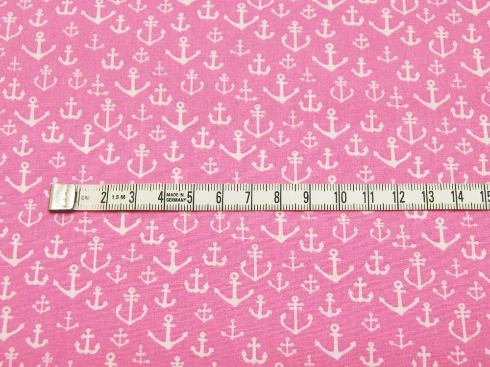 Baumwolle - Ankermix auf Rosa Pink 0,5m - 3