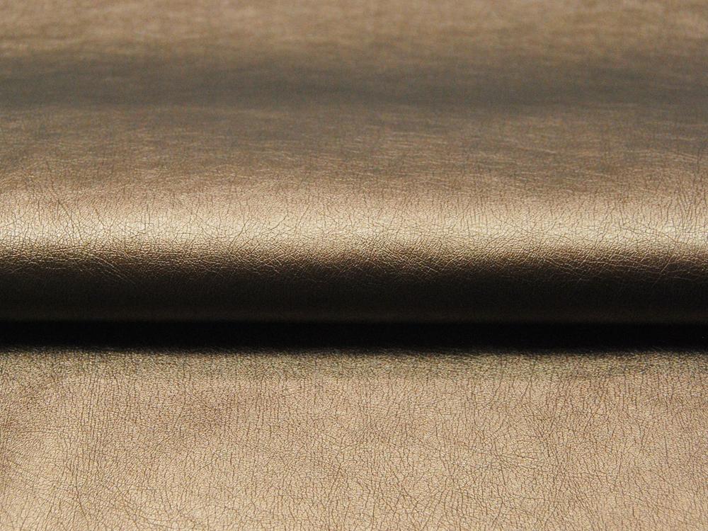 Weiches Kunstleder in Light Gold - 0 5 Meter