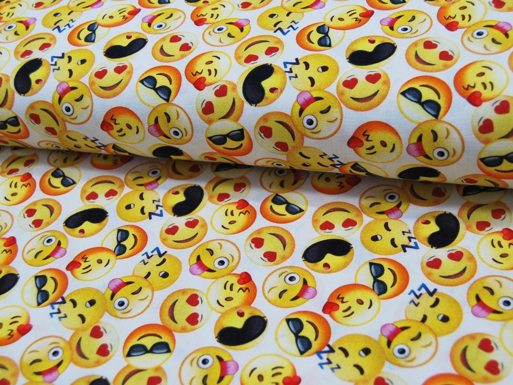 Baumwolle - Emojis - Smileys -