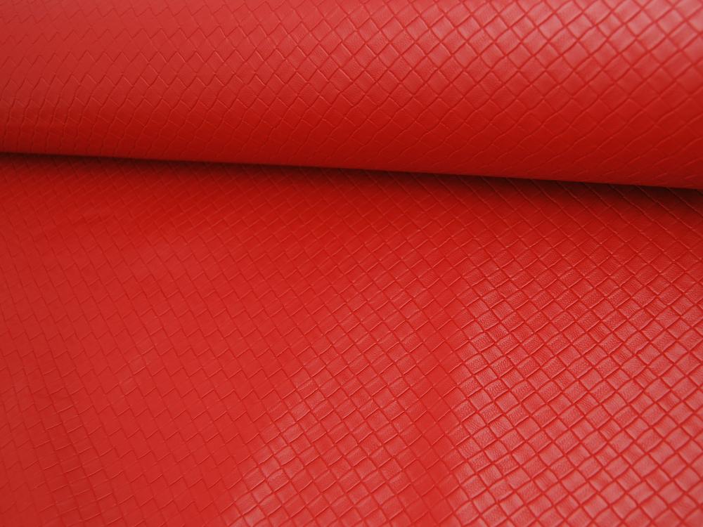 Kunstleder Square Graphisches Muster in Rot