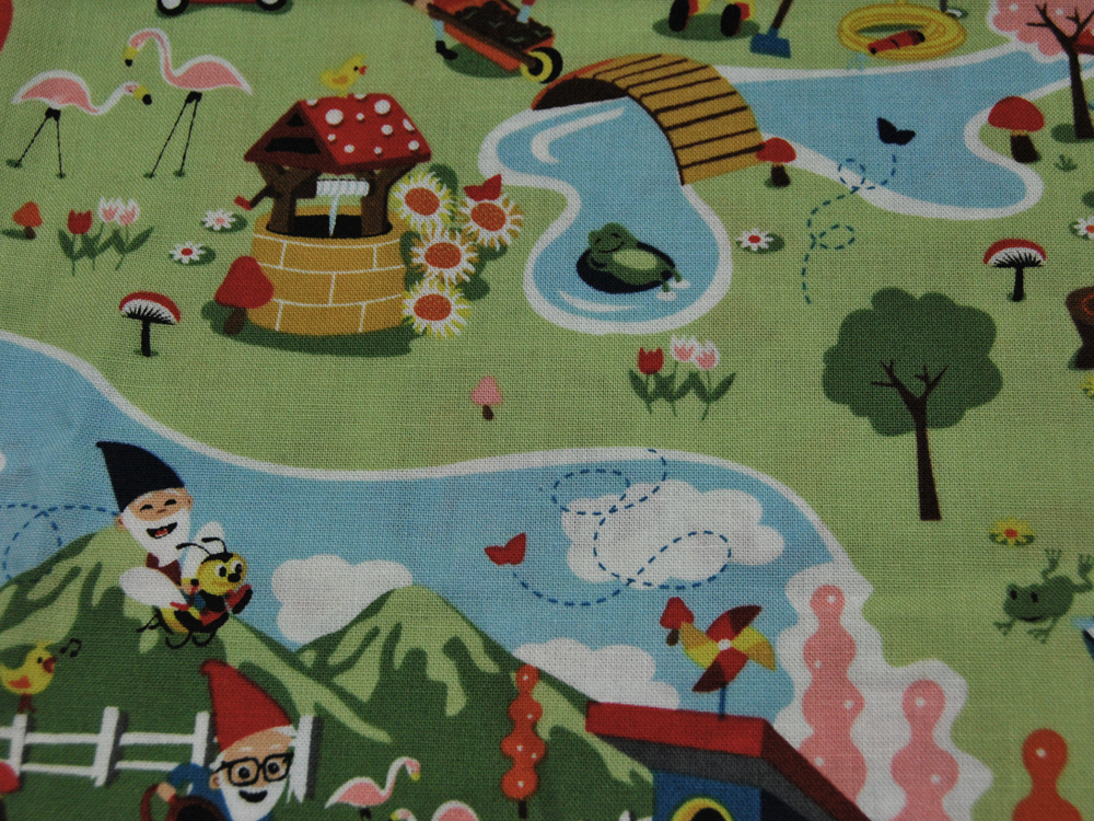 Baumwolle Gnome and Gardens von Riley
