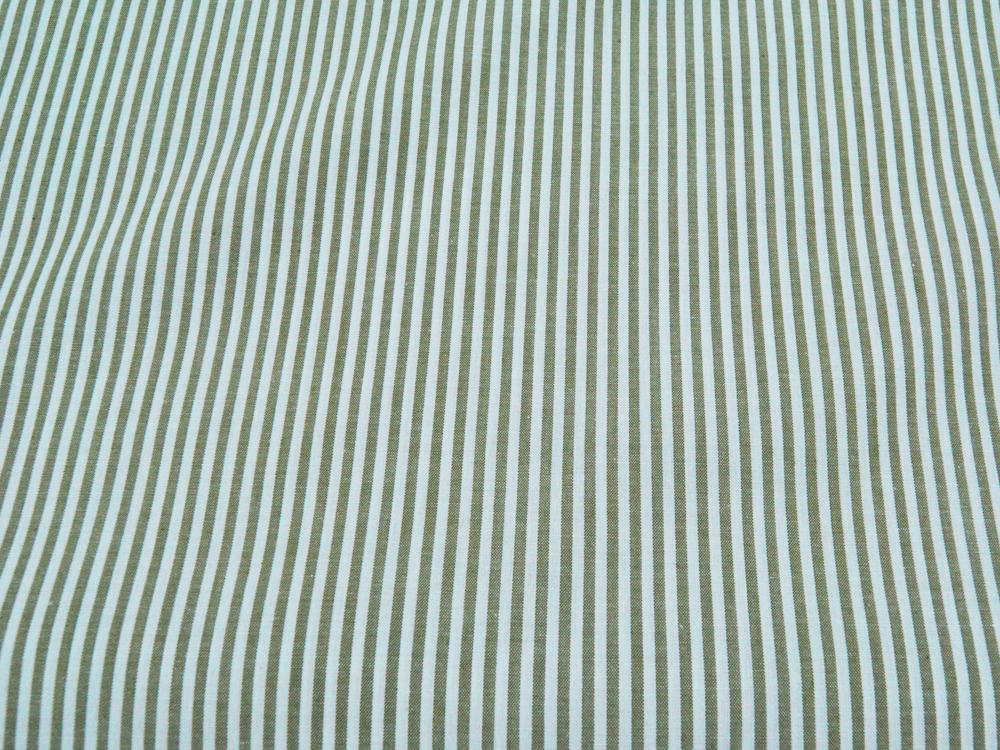 Grün-Weiß gestreifte Baumwolle 05 meter