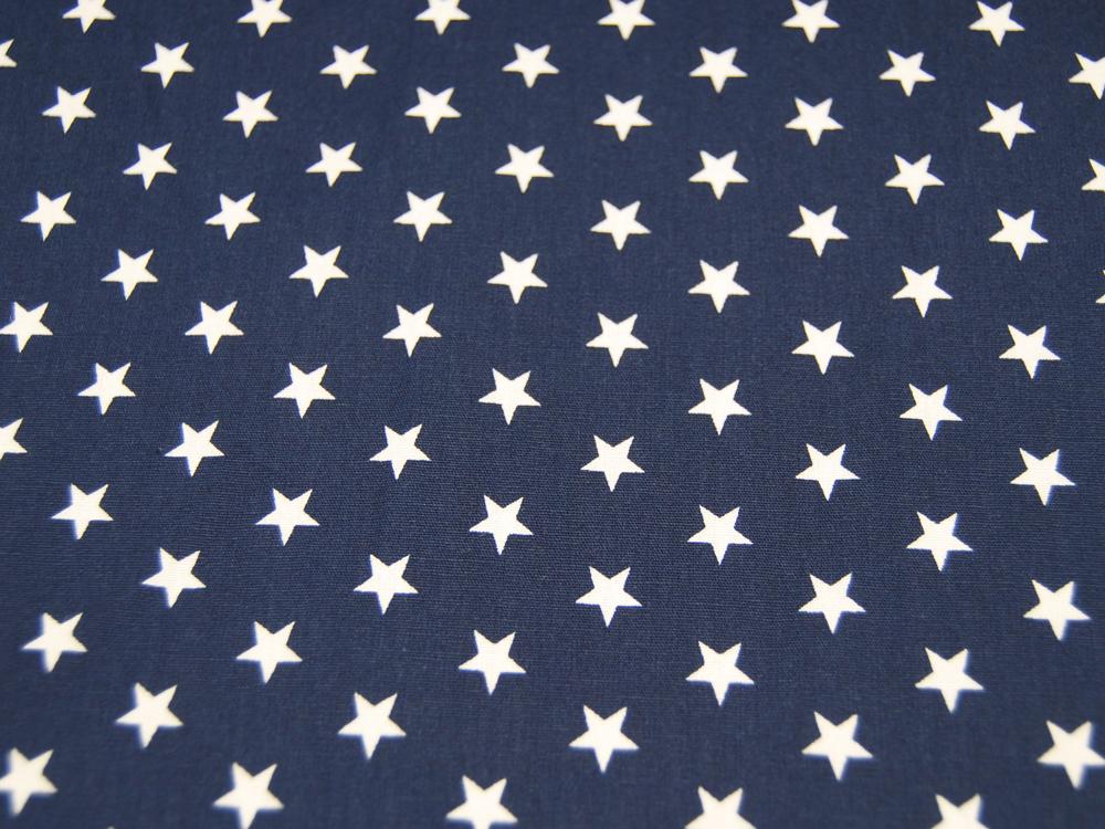 Petit Stars Sterne auf Nachtblau- Baumwolle