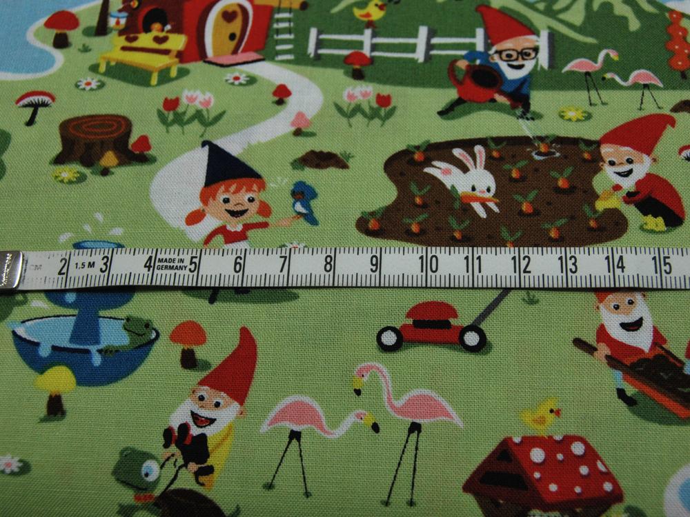 Baumwolle - Gnome and Gardens von Riley Blake 0,5m - 4