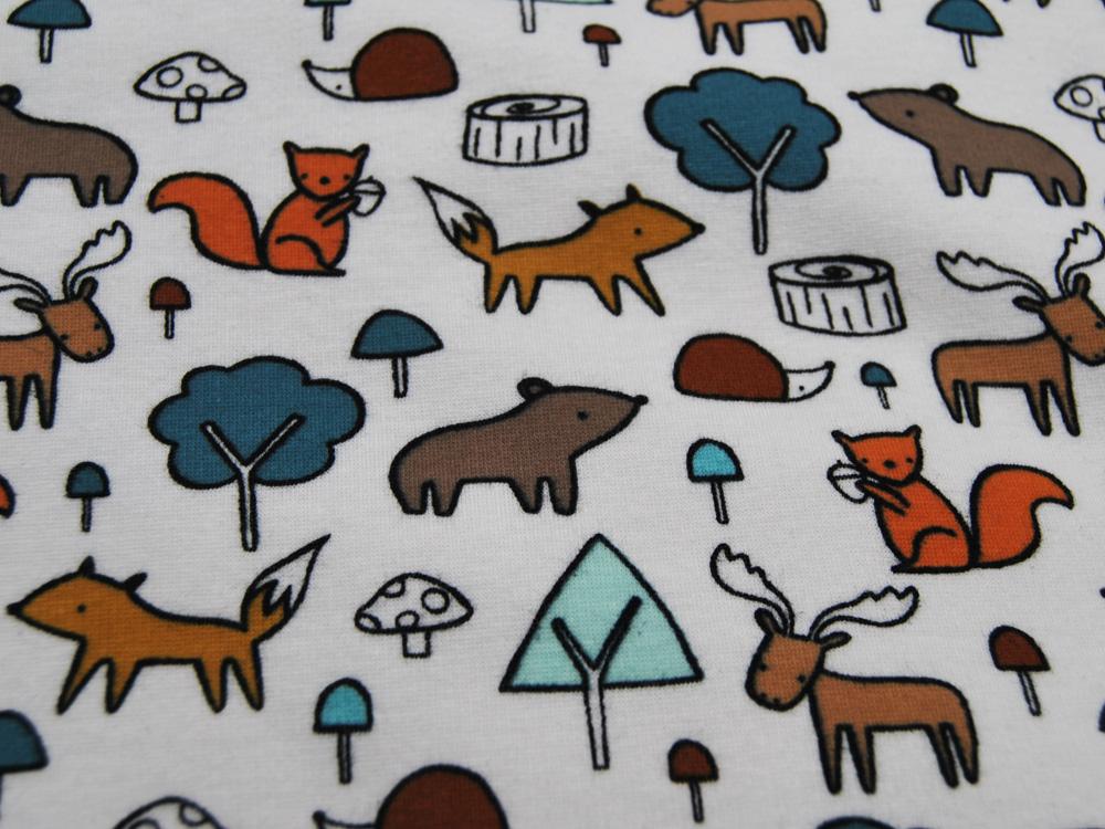 Sweat Purring Fur Alpenfleece Waldtiere auf