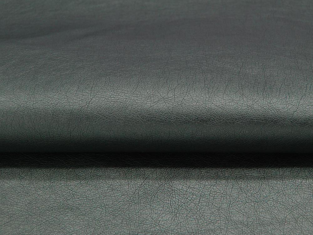 Weiches Kunstleder in Meeresgrün Metallic Meter