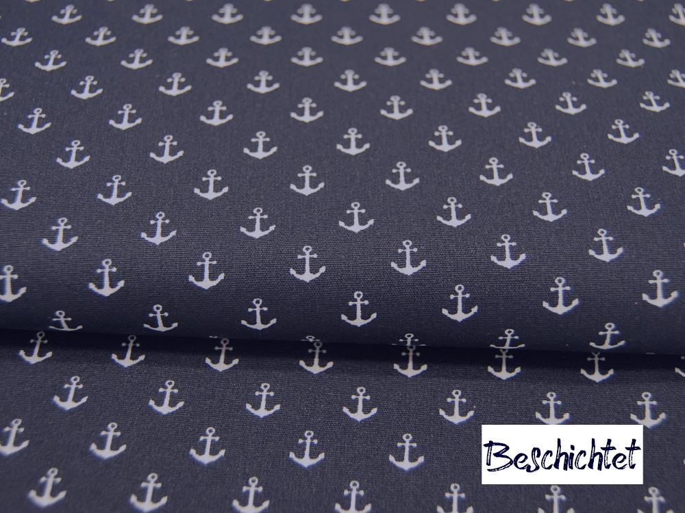 Beschichtete Baumwolle Petit Anchor Minianker auf