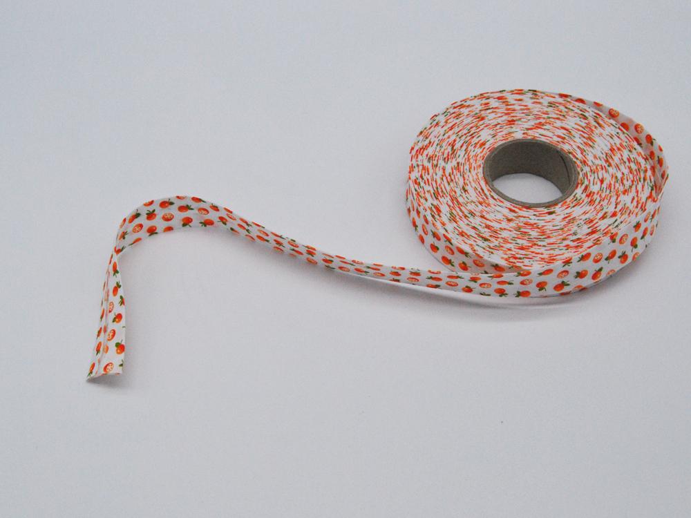 Schrägband 1 Meter - mit Orangen