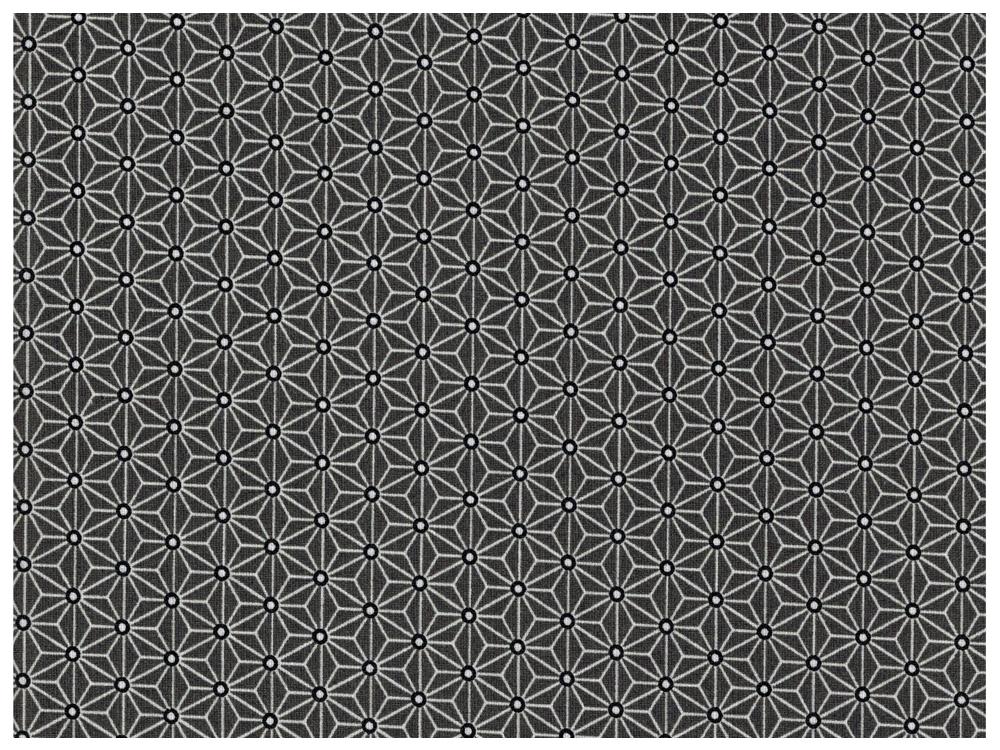Beschichtete Baumwolle Asanoha Dunkelgrau / Schwarz 50 x 76 cm - 2