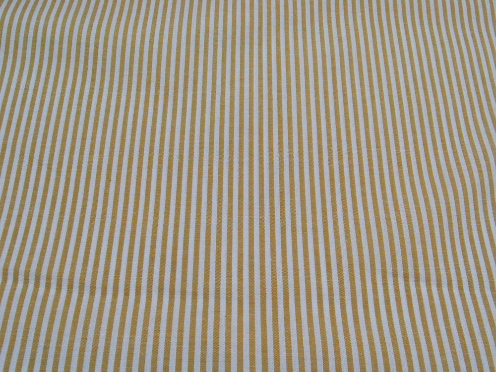 Ocker-Weiß gestreifte Baumwolle 05 meter