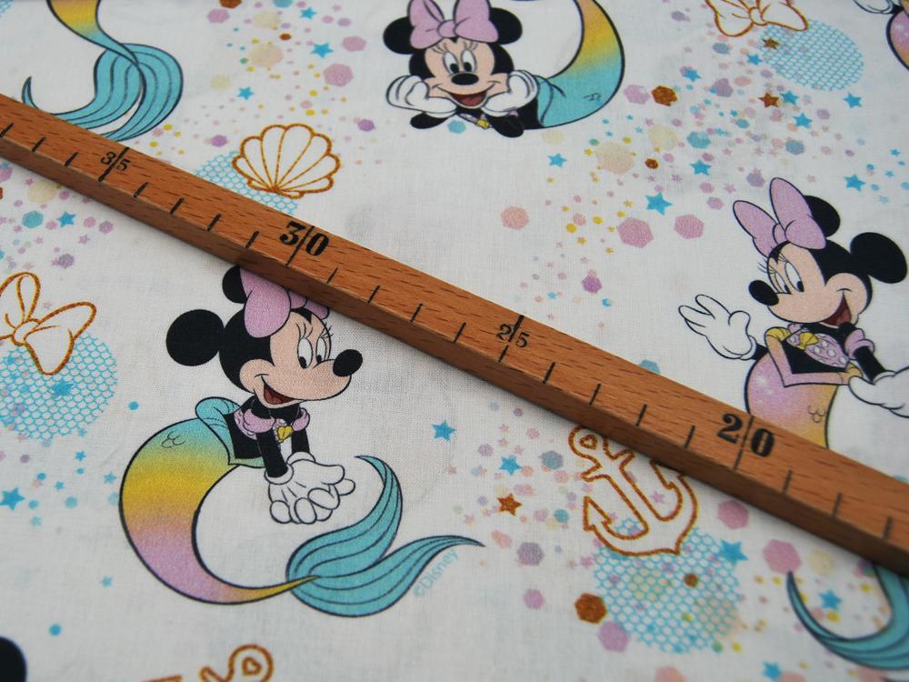Baumwolle Minnie Mouse als Meerjungfrau 05m