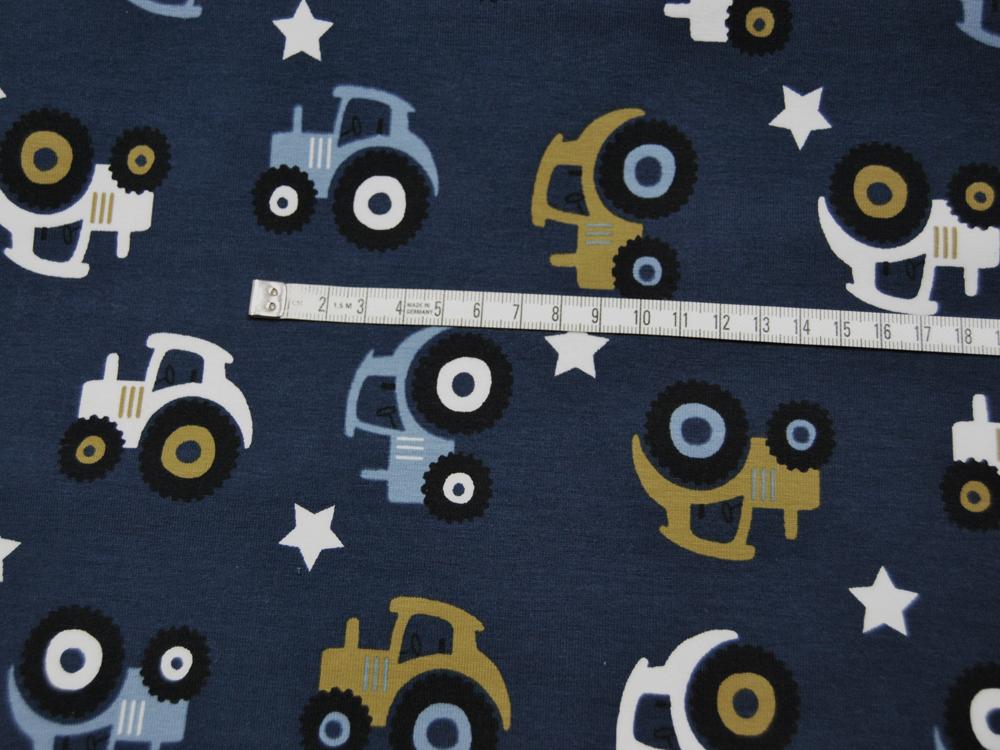 Jersey -Trecker auf Jeansblau - 0 5 Meter