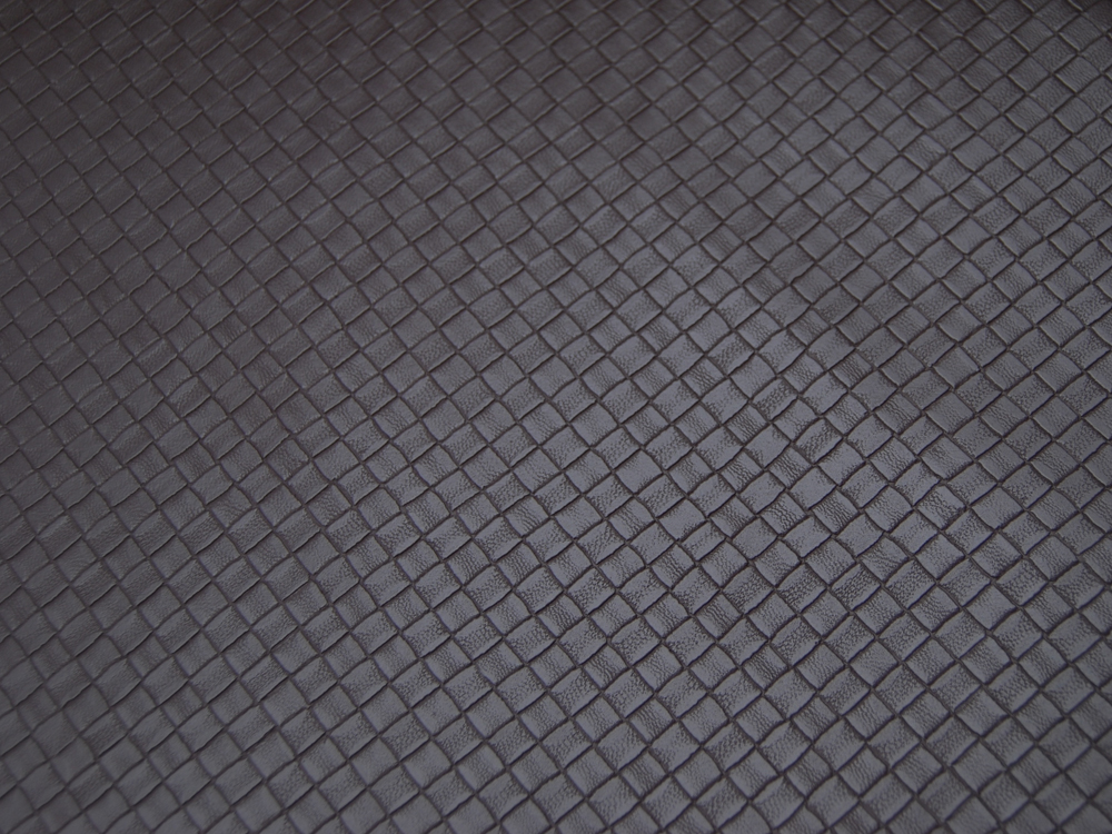 Kunstleder Square Graphisches Muster in Dunkelbraun