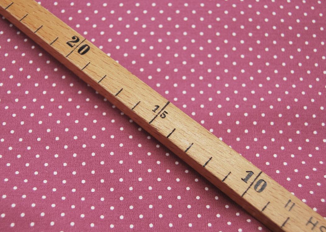 Beschichtete Baumwolle Petit Dots auf Mauve