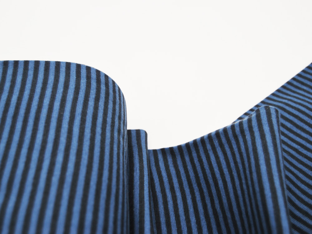 Bündchen Ringelbündchen Dunkelblau Jeansblau cm im