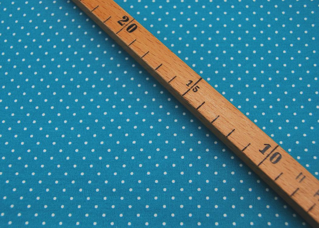 Beschichtete Baumwolle Petit Dots auf Türkis