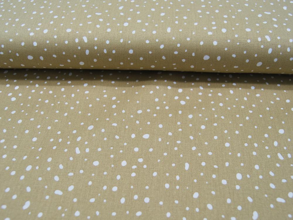 ORGANIC Baumwolle Punkte auf Dusty Gelb
