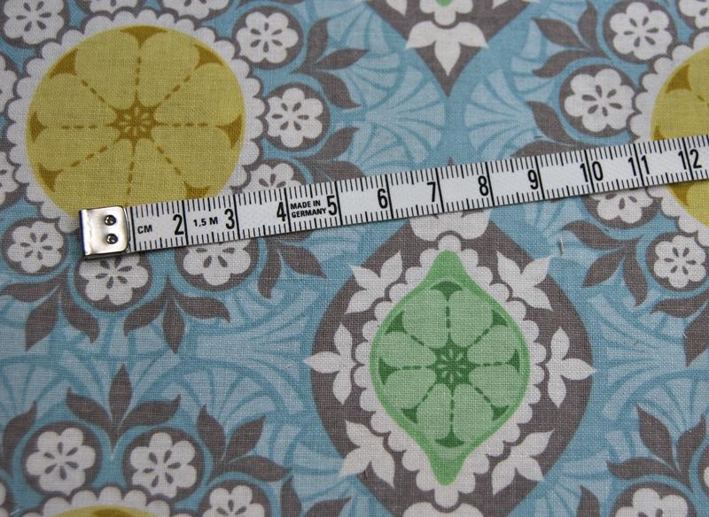 Clementine Blumige Baumwolle von blend 05Meter