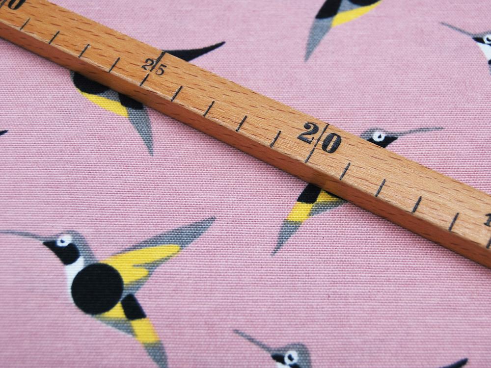 Dekostoff - Kolibris auf Rosa -