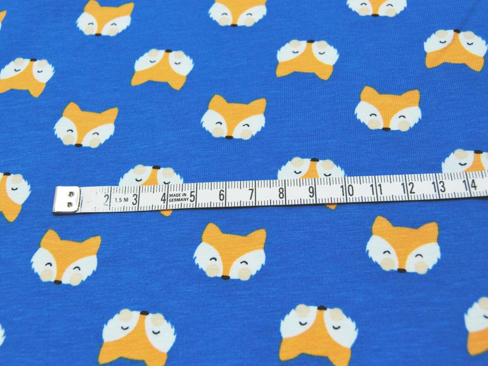 Jersey - Fuchsköpfe auf Blau - 0,5 m - 3