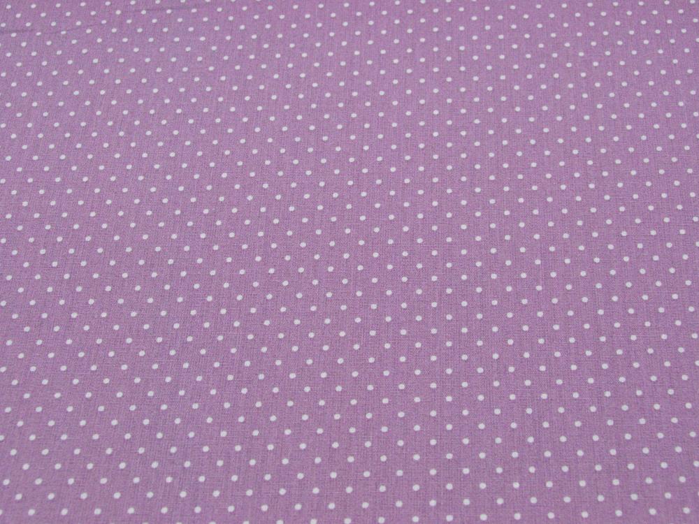 Petit Dots auf Hell Lila Baumwolle