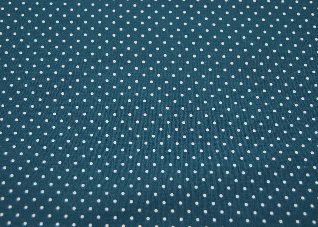 Beschichtete Baumwolle Petit Dots auf Petrol
