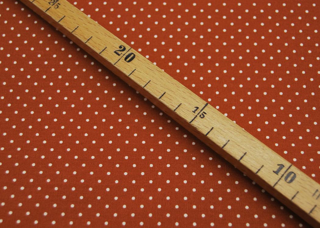 Beschichtete Baumwolle Petit Dots auf Terracotta