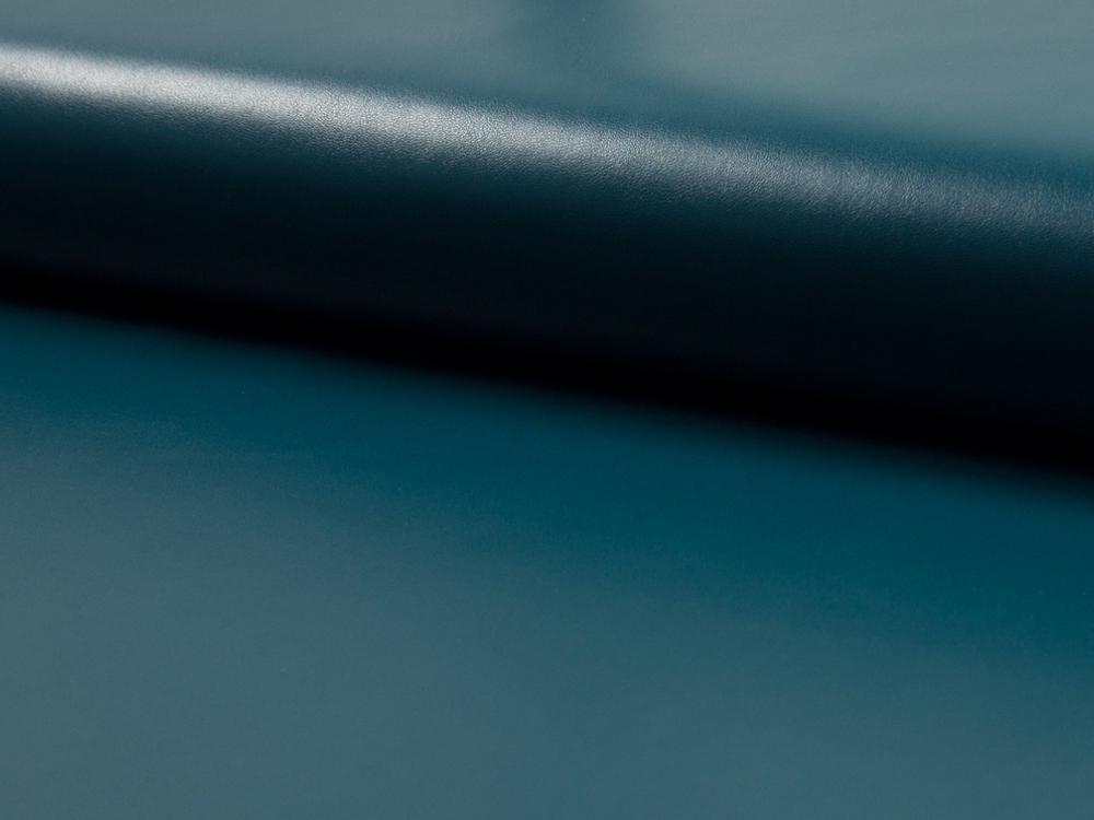 Elastisches leichtes Kunstleder in Petrol Meter - 1
