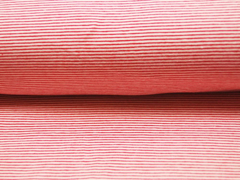 Jersey - Streifen Rot - Weiß - 0.5 Meter