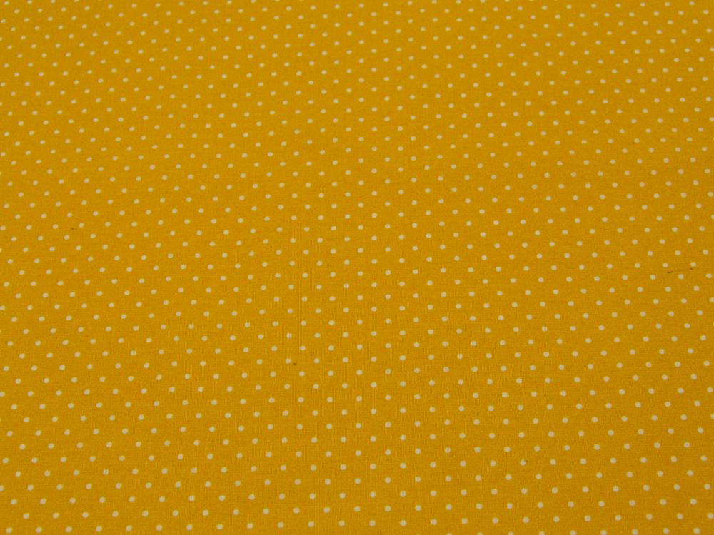Beschichtete Baumwolle Petit Dots Gelb cm