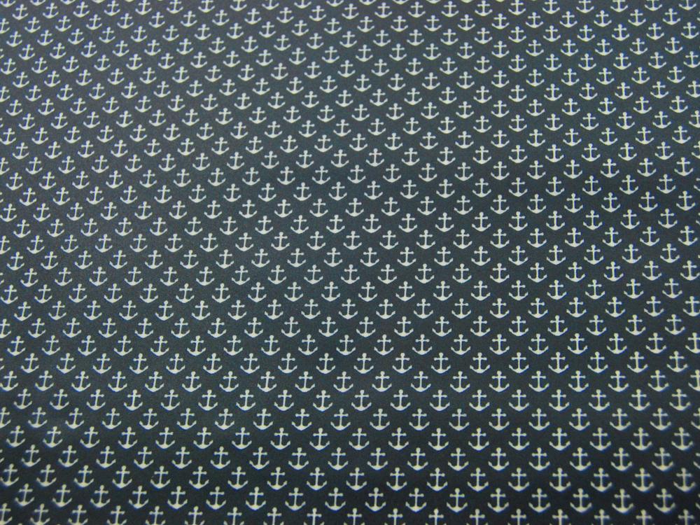 Beschichtete Baumwolle Anker auf Nachtblau 50x70 cm - 1