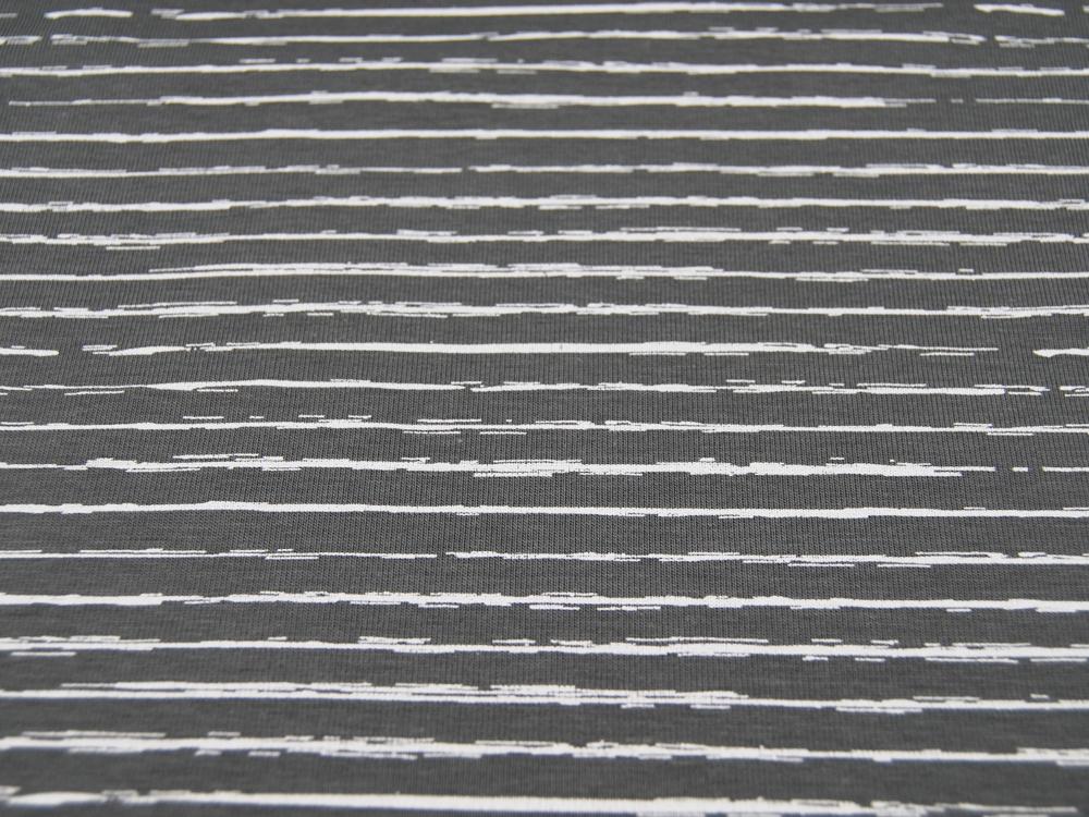 JERSEY STRIPE Dunkelgrau Dark Grey Streifen