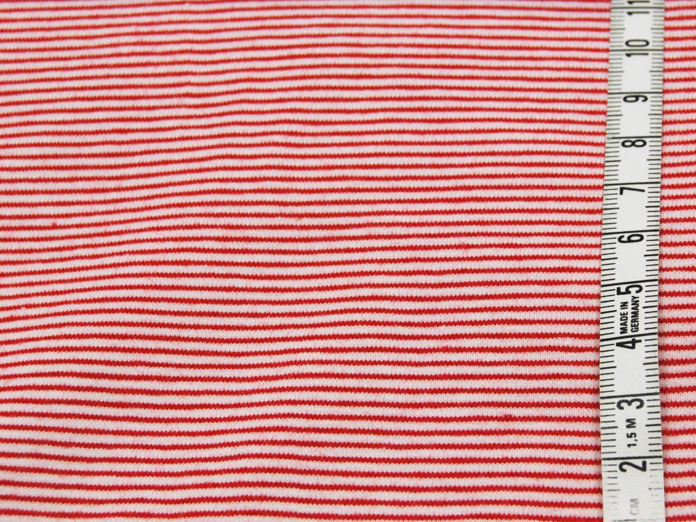 Jersey - Streifen Rot - Weiß