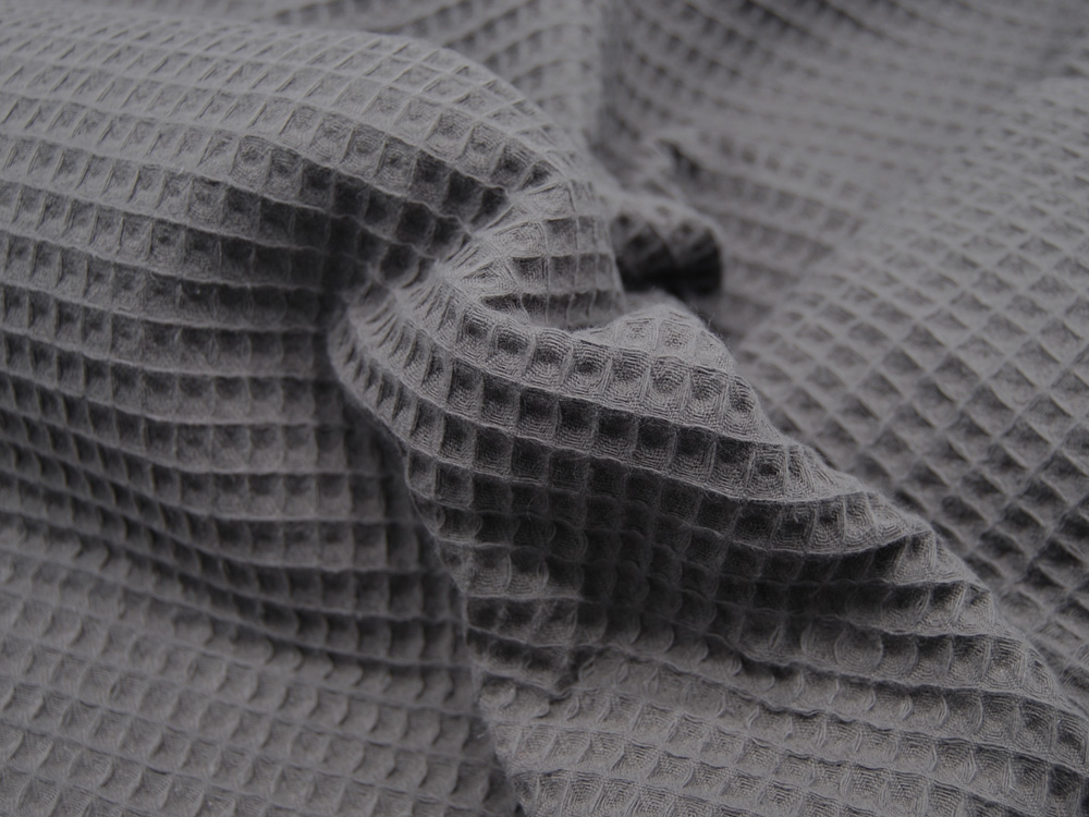 Wafflepique - Baumwolle in Anthrazit