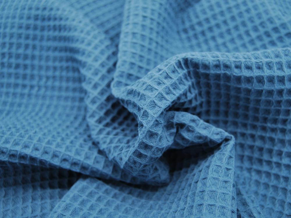 Wafflepique - Baumwolle in Jeansblau