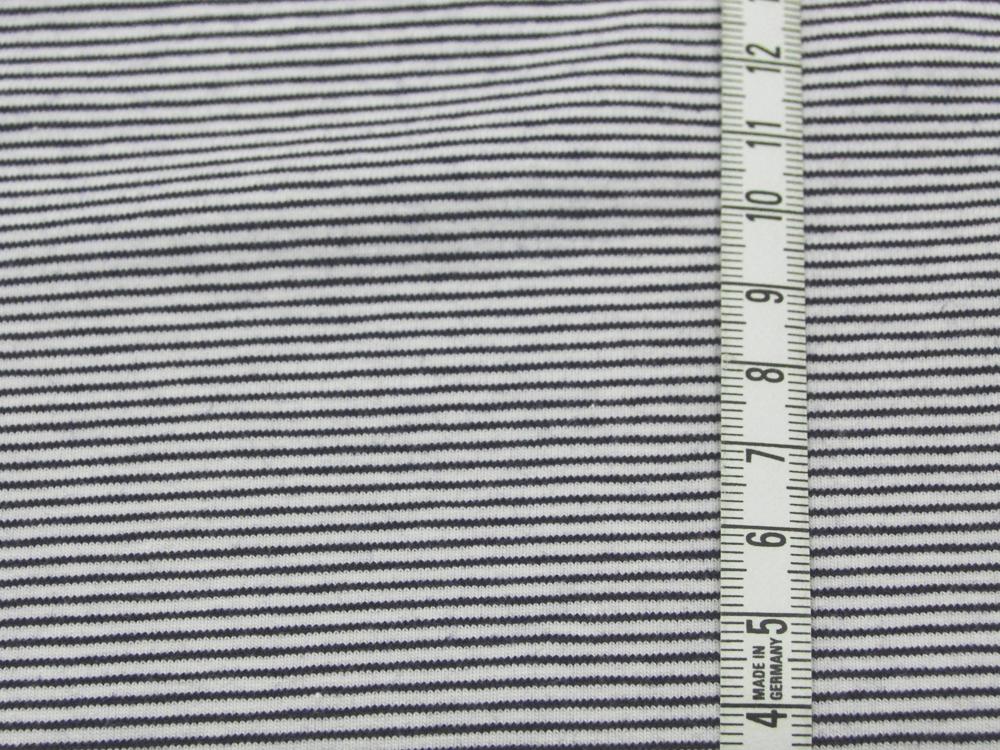 Jersey - Streifen Nachtblau - Weiß - 0.5 Meter