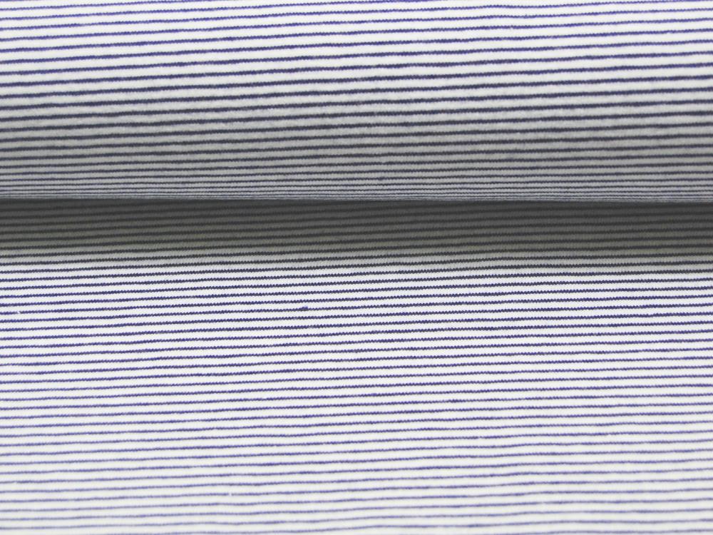 Jersey - Streifen Graublau - Weiß