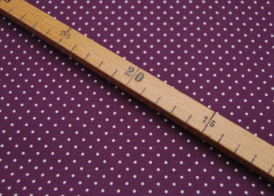 Beschichtete Baumwolle Petit Dots auf Purple