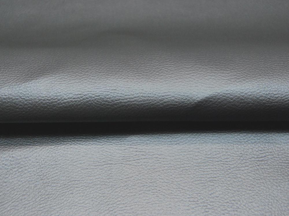 Kunstleder in Rauchblau Metallic - 0 5 Meter