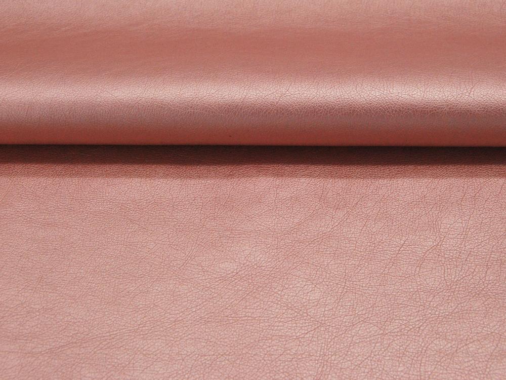 Weiches Kunstleder in Rosa Metallic Meter