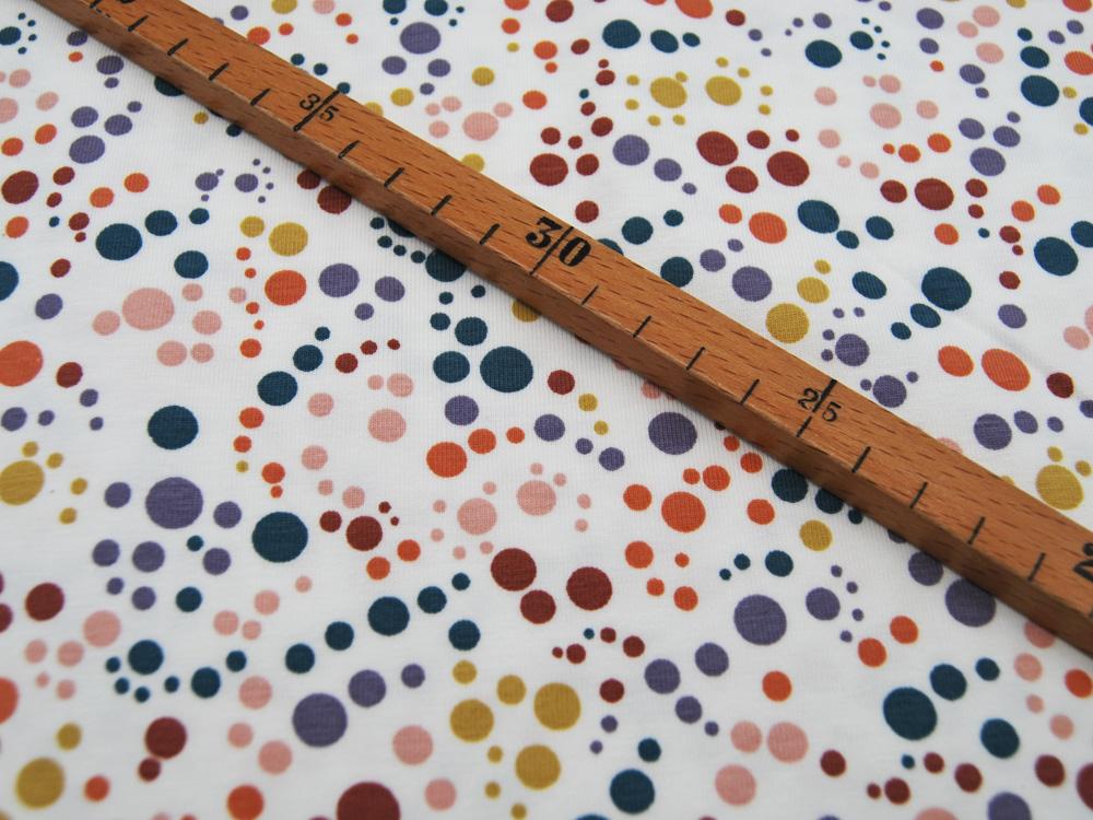Jersey Mix Dots Bunte Punkte auf