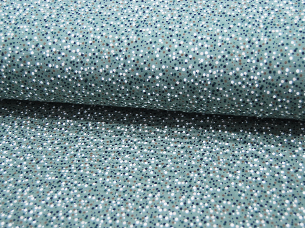 Jersey Mini Dots auf Dusty Mint