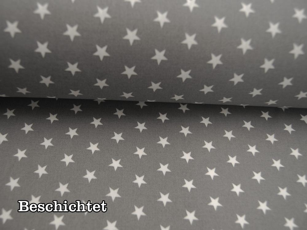 Beschichtete Baumwolle - Große Mandalas auf Grau 50 x75 cm - 1