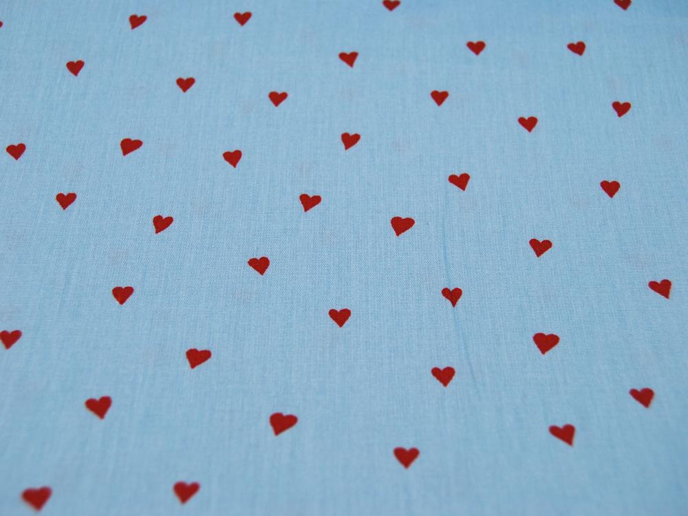You re Sweetheart Herzen auf Hellblau Baumwolle