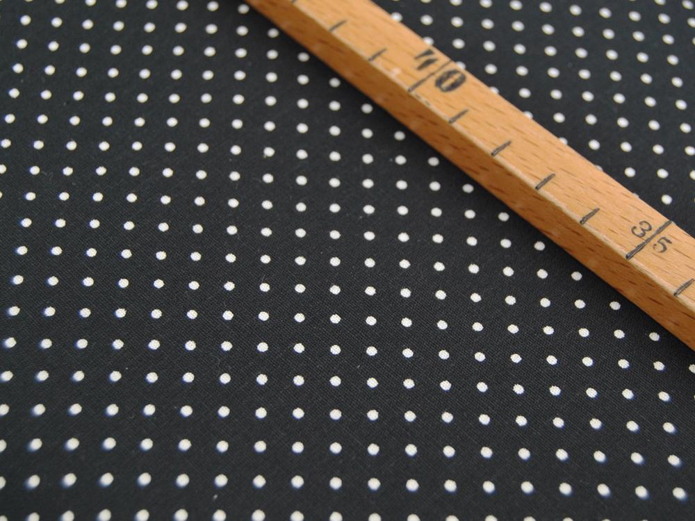 Petit Dots auf Schwarz - Baumwolle