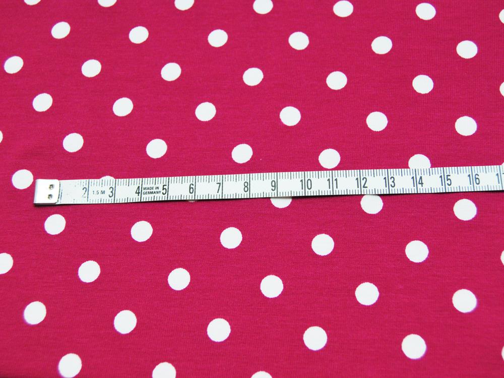 Jersey - Dots auf Dunkelpink - 0,5 m - 2