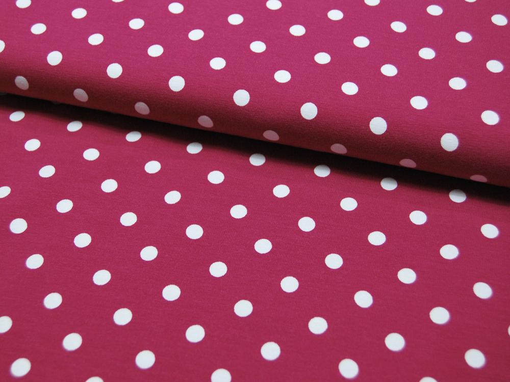 Jersey - Dots auf Dunkelpink - 0,5 m - 3