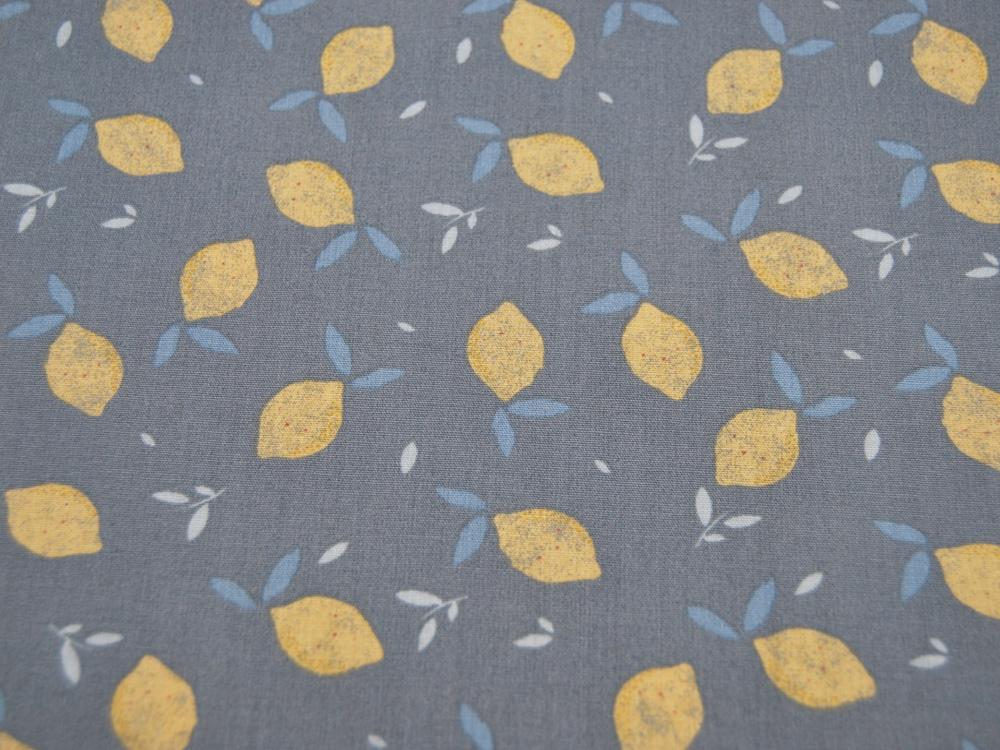 ORGANIC Baumwolle Lemon auf Dusty Green
