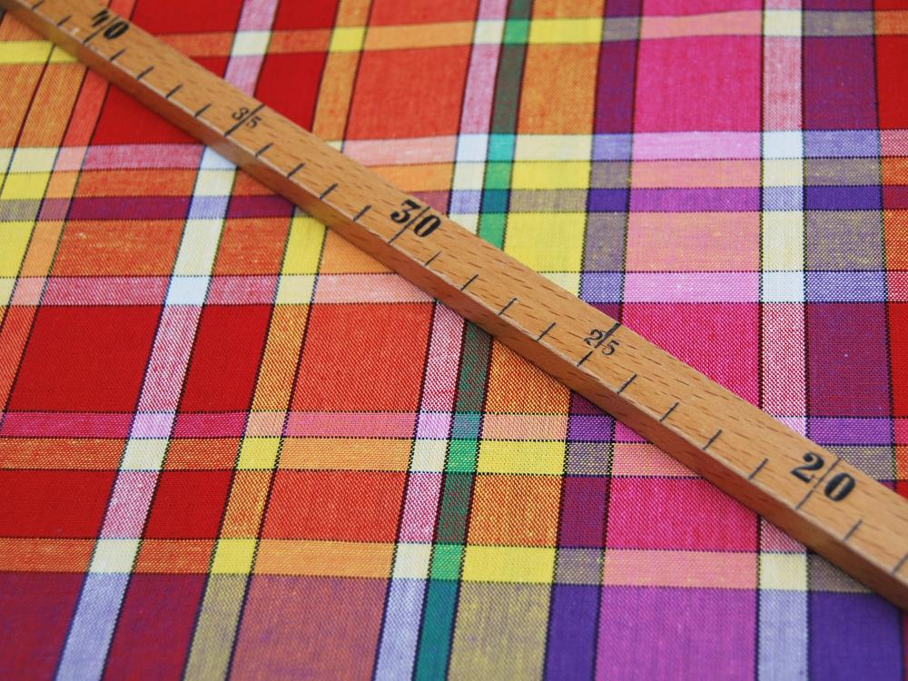 Baumwolle Madras Check Farbenfrohe Baumwolle Meter