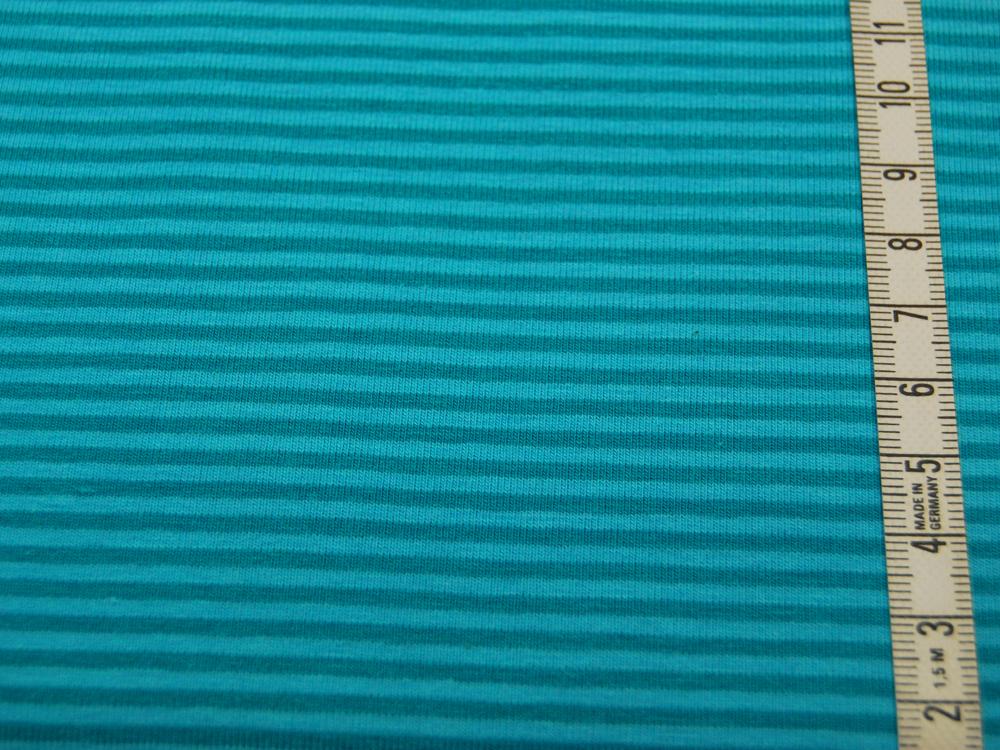 Jersey - Streifen Türkis - Helltürkis - 0.5 Meter